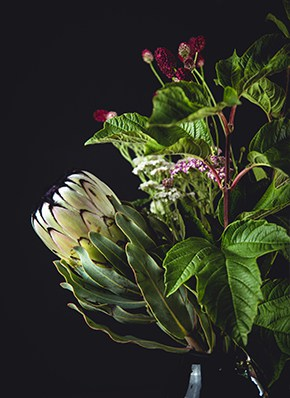 Blumen Bouqet mit weißer Blume